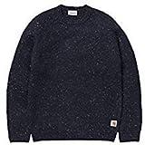 Carhartt ANGLISTIC Sweater Dark Navy Heather Streetwear Uomo AI18
