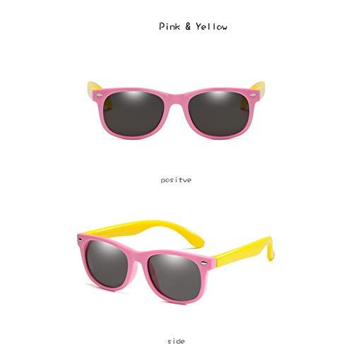 CCGKWW Polarisierte Kinder Sonnenbrille Jungen Mädchen Baby Infant Mode Sonnenbrille Brillen Kinder Shades Gafas Infantil Uv400
