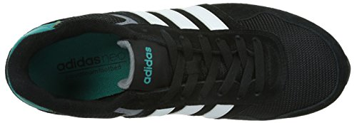 adidas NEO Herren 10k Low-Top Schwarz (Core Black/Ftwr White/Eqt Green S16)
