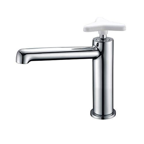 Waschtischarmatur Chrom Einhebelmischer Bad Armatur für Waschbecken mit Star Griff Einhand Wasserhahn für Badezimmer PHASAT MPCS