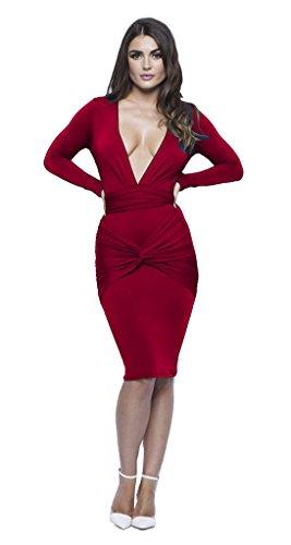 longwu-womens-sexy-long-sleeve-deep-v-neck-stretch-bandage-party-dress-jujube-red-s