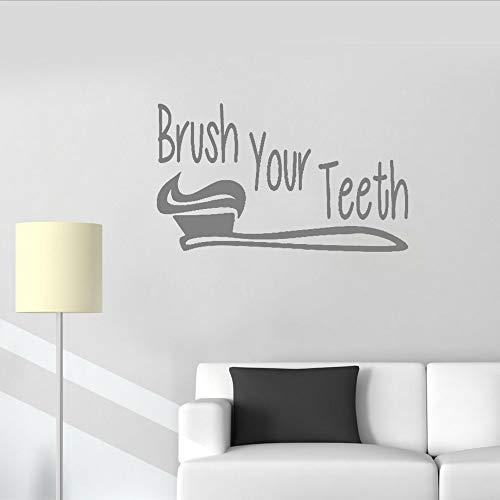 (smydp Putzen sie ihre zähne Wandaufkleber Kunst Vinyl Waschraum Dekor Wandbild Wasserdichte Niedliche Baby Zimmer Tapete Dekoration 56x94 cm)