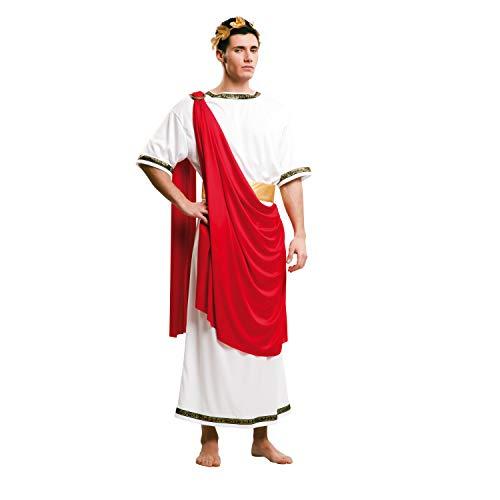 Historische Männer Kostüm - My Other Me Herren Kostüm Cäsar mit Kleid, M-L, rot (viving Costumes 203225)