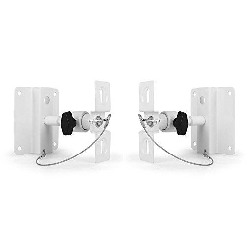 LUA SB-01 Universal Wand- und Deckenhalterung Lautsprecher- u. Boxenhalterung (2er-Set, je bis max. 10kg, kippbar und neigbar, Lochabstand: 5-9cm) weiß