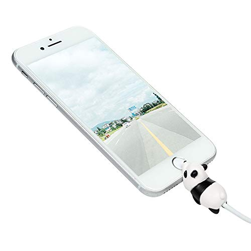 Tier Kabel Protector Silikon iPhone Lightning Bite Aufladekabel Datenkabel Kabelbeißer Kabelschutz Ladekabel Zubehör USB Ladekabel Schmuck für iPhone iPad Samsung A6 S9 Huawei P20 Mate20 Lite-Panda (Iphone Schmuck)