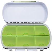 Sabel Pastillero Bolsillo Portátil - Caja Diaria de Vitamina Organizador