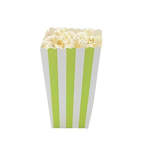 Provide The Best 12PCS / Set Popcorn Box Süßigkeit sanck Favor Taschen Streifen-Geschenk-Beutel Hochzeitsfestbevorzugung Kinder Kino Party Supplies
