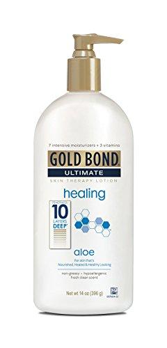 Gold Bond Lotion traitante Skin Therapy Ultimate Healing - Enrichie en aloès et en vitamines A, C et E - 415 ml