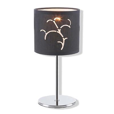 ROLLER Tischlampe BLACK - Chrom - Stoffschirm schwarz Lampen Leuchten von ROLLER - Lampenhans.de