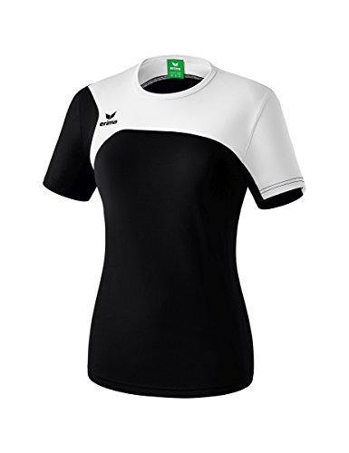Erima Damen Club 1900 2.0 T-Shirt, schwarz/weiß, 36