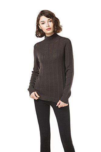 Knitbest Damen Pullover Gr. 38, coffee (Plus Pointelle Womens)