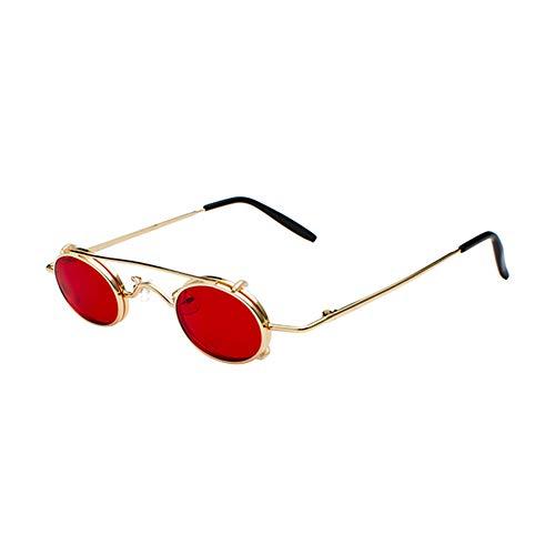 Haodasi Vintage Steampunk Style Metallrahmen Sonnenbrillen leichte Abnehmbare UV400 Gläser