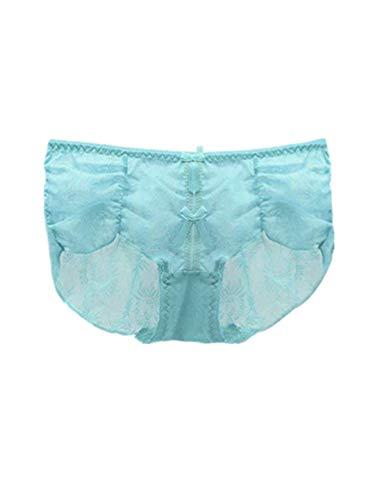 TEBAISE Damen Lace Panty Panties geschlitzte Hüftslip Transparente Damenslip Unterhosen Hipster Slip