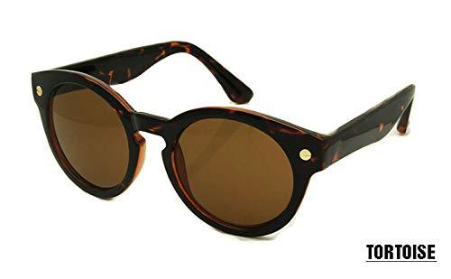 LKVNHP Neue Retro Runde Sonnenbrille Frauen Männer Markendesigner Dame Sonnenbrille Muster Grüne Rahmen Brille Uv400 Oculos De SolSchildkröte
