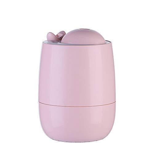 3 in 1 Whale Minibefeuchter - 3 in 1 Vaporizer, 7 Farbe LED-Licht für Kinder, USB-Ventilator für den Sommer, Haus Luftbefeuchter, Stumm Befeuchter für Büro, Desktop-und Schlafzimmer Nette Form - rosa (Touch Baby Sommer-monitor)