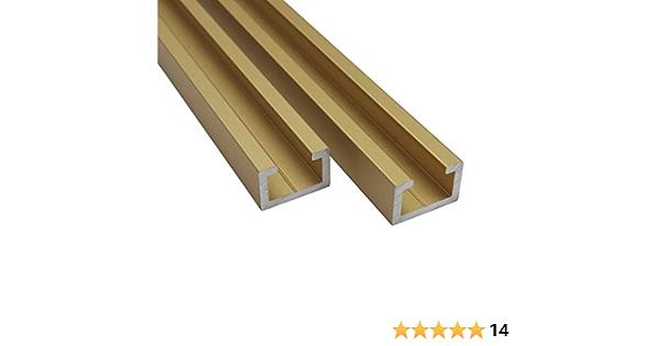 Aluminium C PROFILE M8 Gold Edition 1m Alu cprofil 17x11mm T Slot Rail Drilled