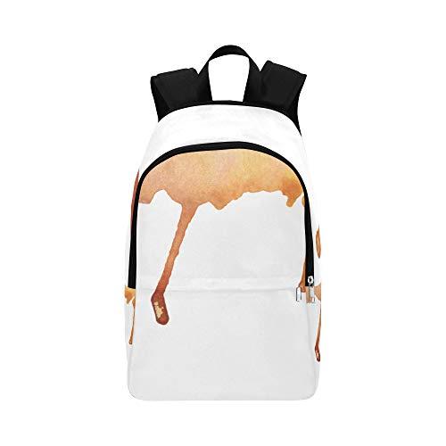 obenen betrages des Schmelzens der Schokolade zufälliger Daypack Reisetasche College School Rucksack für Männer und Frauen ()