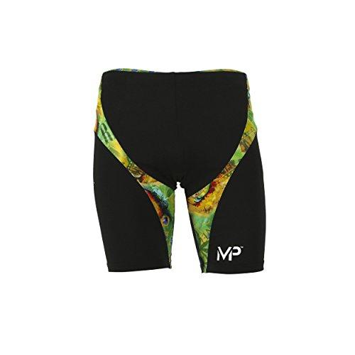 MP Michael Phelps Corco Short de bain pour garçon–Vert/Jaune vert - Vert/jaune
