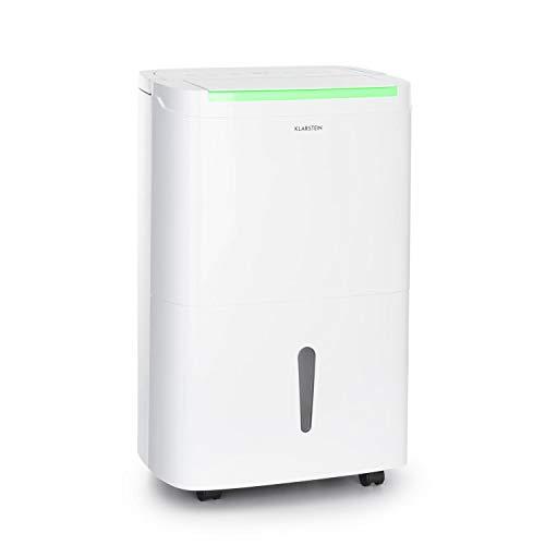 KLARSTEIN DryFy Connect 40, Déshumidificateur, Interface WiFi, 40L/24h, 360 m³/h, pièces de 35-45 m², réservoir d'eau de 7 L, humidité de l'air réglable, minuteur, Silencieux, Blanc