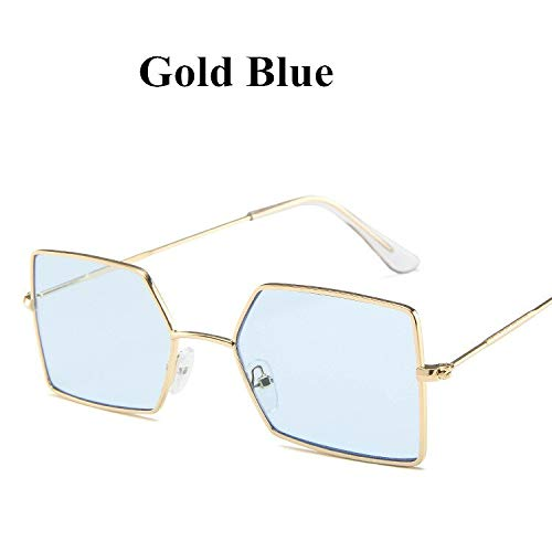 PGFMVP Sonnenbrillen Fashion Cat Eye Damen Metal Black Gradient Sonnenbrille Classic Vintage Clear Ocean Gläser Uv400 Rahmen Alloy Sun GlassesGold Blue