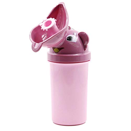 Jungen Mädchen Kinder Tragbare Bequeme Töpfchen Urinal Hygienische Auslaufsicher Kleinkind Töpfchen Toilette Ausbildung Niedlichen Design Für Wandern Camping Auto Reise (Color : Light Pink) - Lite-urinal