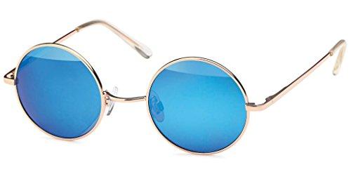 UVprotect® unisex Retro John Lennon Style Sonnenbrille blau W43-16
