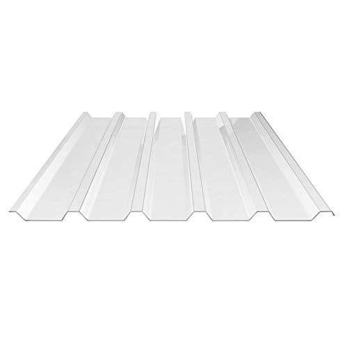 St/ärke 0,65 mm Profil 76//18 Wellplatte Breite 900 mm Farbe Glasklar Lichtplatte Lichtwellplatte Material Polycarbonat