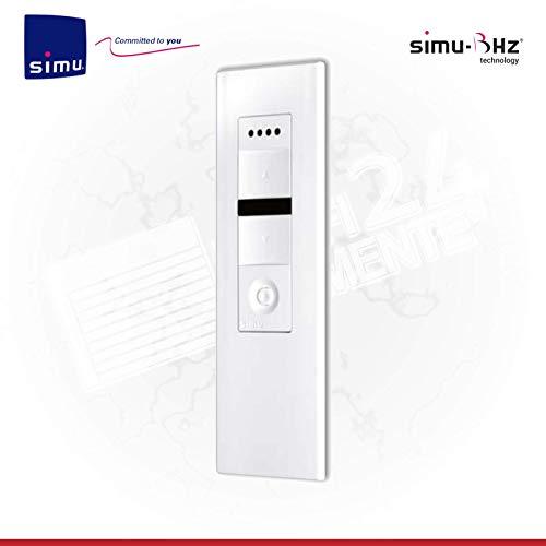 Simu Radio BHz Télécommande 5 canaux pour moteurs sans fil BHz Compatible avec les moteurs Somfy Funk io