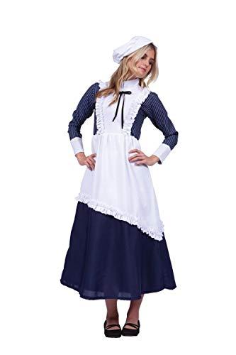 Frauen Colonial Kostüm - COLONIAL LADY pinstripe- ADT L