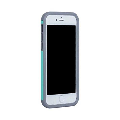 iPhone 7 Hülle,Lantier Dünn Matt Matt Finish Design Shockproof 2 in 1 Combo Defender Schutz zurück hüll Deckung für Apple iPhone 7 4,7 Zoll 2016 Rosen-Gold+Grau Mint Green+Grey