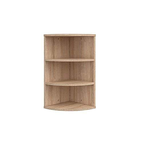 Vicco Corner Shelf Ecki Bookcase Sonoma 3 compartments Hanging Shelf Bathroom Shelf Wall Shelf