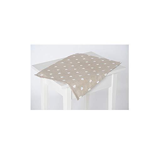 Beties cuoricini federe & biancheria da tavola in grande gamma di misura e selezione in stile rockabilly, misto cotone, beige, platzset 35x45 (hxb)