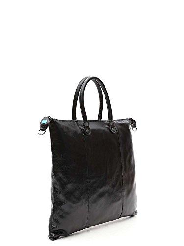GABS donna borsa shopping G3.B-I17 CFCF PIATTA TRASF.CALF DAV/DT schwarz, schwarz