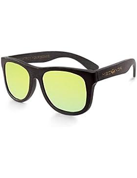 Gafas de sol de bambú MOSCA NEGRA modelo BLACK BAMBOO and Yellow - bamboo sunglasses