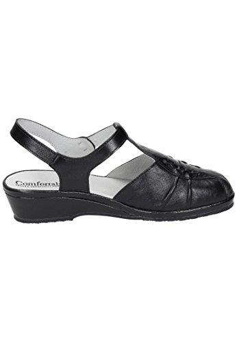 Comfortabel Damen Sandale in schwarz Schwarz