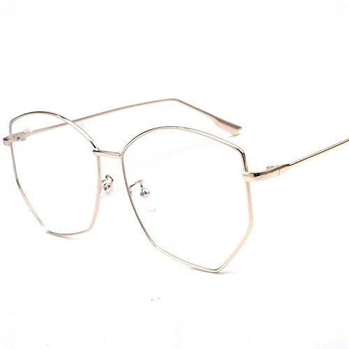 LuckyJX Trend Metallbrille 5,79 * 2,24 In Gold