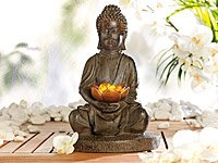 Lunartec Solar-LED-Lampe Buddha