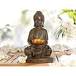 Lunartec–Lámpara LED solar con forma de Buda