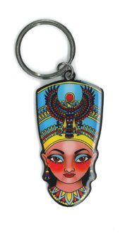 sunny-buick-nefertiti-original-licensed-artwork-modern-bright-bold-metal-long-lasting-keyring-porte-