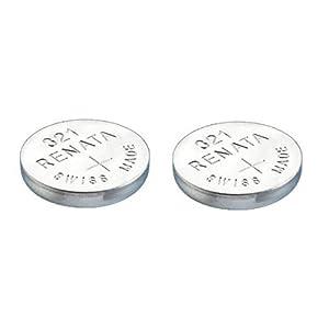 2 x Renata 321 Uhrenbatterie In der Schweiz hergestellt Silberoxid 1,5 V Auch als SR616SW bekannt