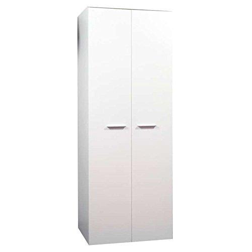 JUSThome 2D Drehtürenschrank Kleiderschrank Garderobenschrank (HxBxT): 190x70x55 cm Weiß