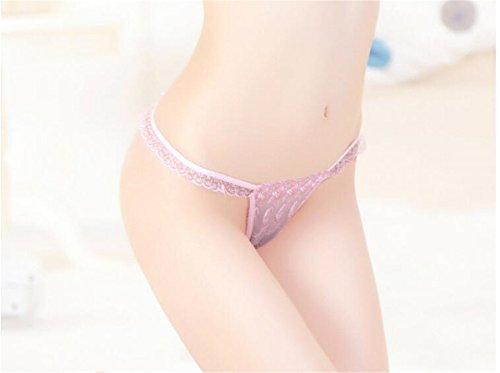 YALL-Frauen / Damen Unterwäsche Wäsche Netzgarn Spitzen-String T Hosen der niedrigen Taille Mädchen Pink