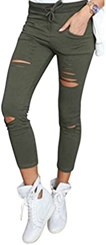Live It Style It Damen dehnbar verblichen gerippt Enge Passform Skinny Jeggings Jeanshose Damen-Hosen