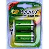 GP 2100mAh AA ReCyko with C&D Convertors