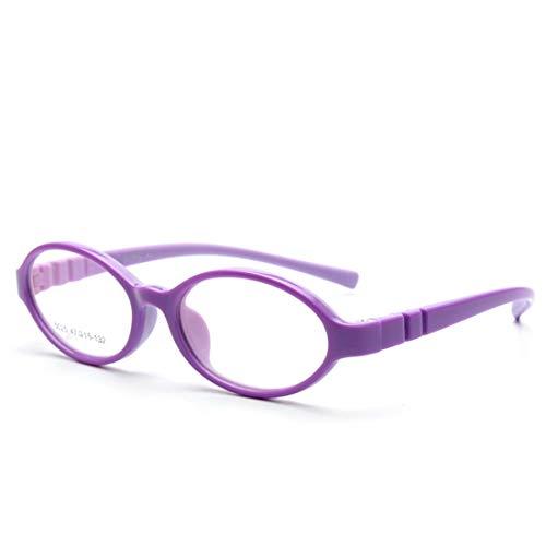 Sakuldes Kinderbrillenrahmen Candy Farbe Brille klare Gläser Nicht verschreibungspflichtige Brille violett