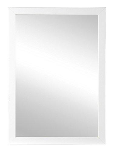 Spiegel Wandspiegel Flurspiegel KARON | B 48 x H 68 cm | Rahmen Weiß Hochglanz