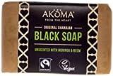 AKOMA African Black Soap Enriched1-12 Bars-1 Bar