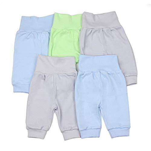 TupTam Unisex Baby Pumphose Jogginghose Baumwolle 5er Pack, Farbe: Junge, Größe: 86