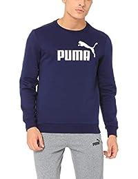 Puma Men ESS Logo Crew Sweat FL Big Logo Peacoat