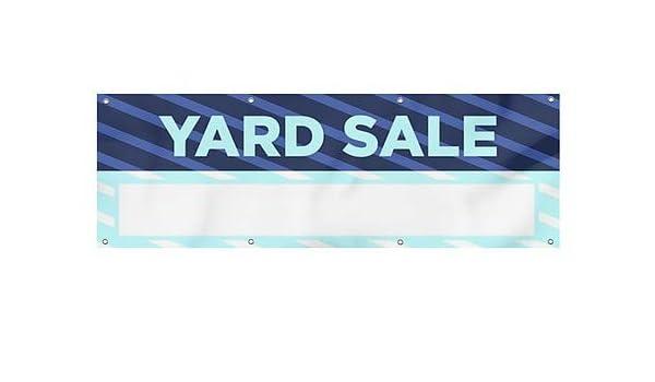 12x4 Nostalgia Stripes Wind-Resistant Outdoor Mesh Vinyl Banner CGSignLab Yard Sale